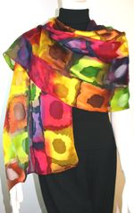 Its called the Bonnie Bright Scarf.  A great name... I mean, it really is bright!  http://www.fashionscarvesandshawls.com/silk-scarves.html