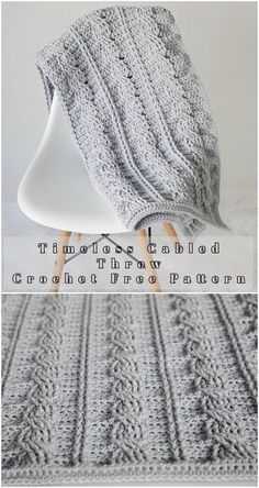 Free Crochet Pattern This is new propose of crochet throw – perfect written and explained will be efficient for every higher beginner crocheter. Enjoy wearing! Full