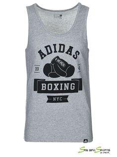 Adidas S16544 Men Sleeveless SL Boxing Club Sport Training T-shirt Color  Grey 6020b581e1dd0