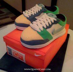 Green Nike Sneakers Cake