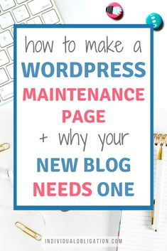 Thinking of starting a blog or already started creating a blog from scratch? Then you need to check this WordPress tutorial guide that will help you create a maintenance or coming soon page for your new blog. So that you can work on creating content + customizing your design without worrying about your blog traffic or readers seeing a half-complete website. Click here to get your full how to guide. #WordPressTips #WordPressPlugins #BloggingForBeginners #NewBlogger #HowToStartABlog Learn Wordpress, Wordpress Plugins, Wordpress Website Design, News Blog, Blog Tips, Creating A Blog, Blog Writing, Blogging For Beginners, How To Start A Blog