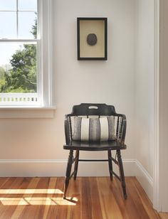 Paint Color: Walls are Benjamin Moore's Chantilly Lace and Trims are Benjamin Moore's Super White.