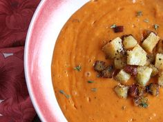 Creamy Roasted Red Pepper and Cauliflower Soup   Serious Eats : Recipes