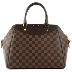 LOUIS VUITTON Damier Ebene Mews ❤ liked on Polyvore featuring bags, handbags, zipper bag, brown purse, louis vuitton handbags, louis vuitton purses and hand bags