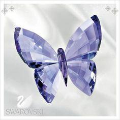 Swarovski Colored Crystal Figurine Butterfly Provence Lavender #5155714
