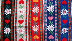 embroidered trim  edelweiss tyrolean trim  one 1 by thriftypyg, $4.00