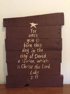 Bible Verse Christmas Tree-Luke 2:11 on Etsy, $35.00
