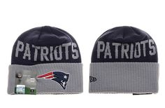 Mens / Womens New England Patriots New Era Navy / Heather Gray NFL Classic Cover Cuffed Knit Beanie Hat