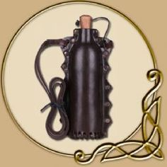 Ok so I know that this isn't how these are made... But I should make create a leather water bottle cover :D