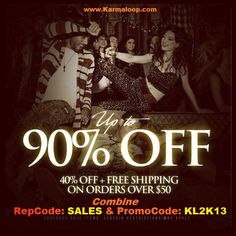 Karmaloop's End Of Year Sale (Sale Items Up to 90% Off)  Get 41% Off & Free Shipping on orders $50 or more at Karmaloop!  Exclude: Sale Items  Combine RepCode: SALES & PromoCode: KL2K13 at checkout page.  For more Karmaloop codes, visit http://www.Karmaloop-Codes.com    #karmaloop #newyear #endofyearsale