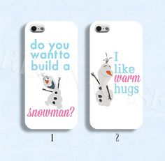Disney frozen case Disney phoen case Disney olaf phone case  for iphone 4/4s 5/5s Galaxy s3 s4 s5 on Etsy, $9.99