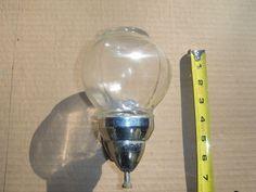 Old Vintage Wall Mount Glass Globe Chrome Metal Hand Soap Dispenser | eBay