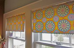 Made these curtains to add some color to the kitchen.  The rick rack trim really makes it pop!