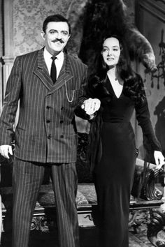The original Addams couple, Carolyn Sue Jones and John Astin. They're just so perfect together!