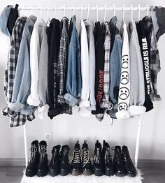 Grunge Style Basics on We Heart It - Home decor Mode Outfits, Grunge Outfits, Casual Outfits, Fashion Outfits, Skirt Outfits, Plaid Shirt Outfits, Fashion Mode, Grunge Fashion, Mens Fashion