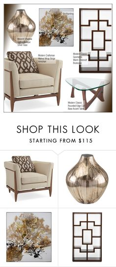 """""""Modern Classic Living Room"""" by kathykuohome ❤ liked on Polyvore featuring interior, interiors, interior design, home, home decor, interior decorating, Craftsman, living room, modern and livingroom"""