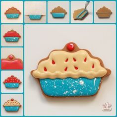 Decorated Cherry Pie Cookies Step By Step  Sweetopia