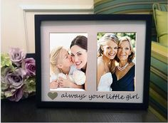 Always Your Little Girl Picture Frame and Mat, Mother of the Bride Gift, Personalized Frame, Wedding Gift, Parents of the Bride on Etsy, $32.00