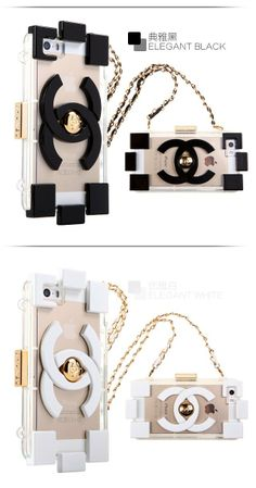 Electroplated Chanel transparent TPU case for iPhone 5S with the same color fashion Chain (Black and White) Only $20.98 on http://www.alfreeshipping.com