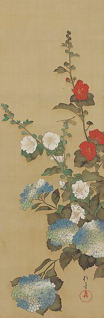 May - Sakai Hōitsu (1761-1828) - Birds and Flowers of the Twelve Months