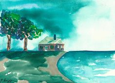 'Summer Storm' By Frank Bright Watercolor Print