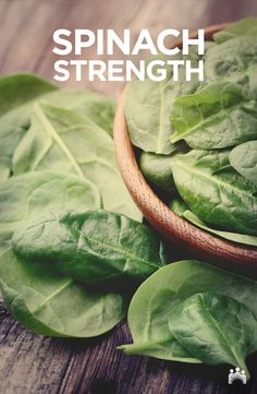 Spinach is a great source of vitamin K, which is important for maintaining healthy, strong bones. Steam or sauté it when cooking to best preserve its nutrients. Smart Snacks, Digital Signage, Eating Well, Preserves, Strong Bones, Nutrition, Vegetables, Cooking, Healthy