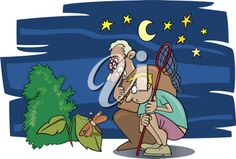 iCLIPART - Illustration of boy and his grandfather looking at a moth