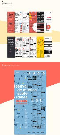 Sistema de alta complejidad realizado para la cátedra de Diseño Gráfico 3 Gabriele, el cual consistía en crear la identidad para un festival de música en el subterráneo.