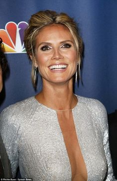Heidi Klum and Mel B continue their battle of the busts in extremely low-cut frocks at America's Got Talent bash Sun-kissed goddess: The wore [. Heidi Klum, Beautiful Celebrities, Gorgeous Women, Beautiful People, Sexy Outfits, Relaxed Updo, Belle Nana, Beauté Blonde, Sharon Stone