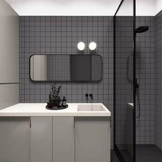 Creative bathroom design for small apartment