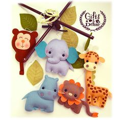 Free US Ship Safari Quest Animals Baby Mobile por GiftsDefine