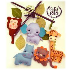 Free US Ship Safari Quest Animals Baby Mobile por GiftsDefine