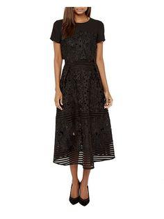 Jenelle Layered lace midi dress