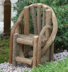 Rustic Vine Chair - Miniature Garden Shoppe