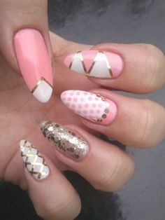 pink stiletto nail - Click image to find more nail art posts