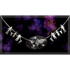 earth necklace Silver Necklaces, Silver Plate, Earth, Silverware Tray, Mother Goddess, World, The World