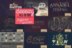 Huge Lifetime graphics deal from Deeezy ALL in ONE pack by deeezy on @creativemarket