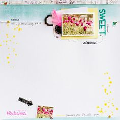 #papercraft #Scrapbook #layout.  Kit esencial mayo 2014 kdsmarivi-15 copia