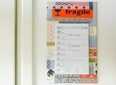 masking tape calendar