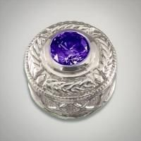 Round sterling silver slide featuring a round Fancy Purple center Metal:Sterling Silver Designer:Goldman-Kolber $ 100.00 Item #: 84C6PD Call 870-863-8818 for personal consultation.