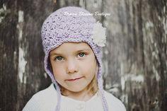 Violet kleinkind mädchen Plüschmütze Baby von PBlossomBoutique