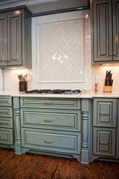 Blue and Grey Kitchen  #interiordesign #interiordesignideas #designideas #kitchendesign