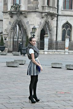 Stiletto in the Cloud: Skirt & Faux Fur
