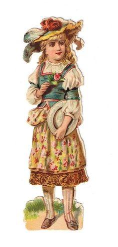 old victorian scrap, girl