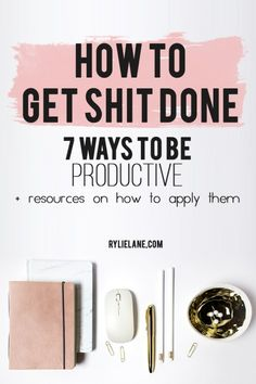 Struggling to tick off your to-do list? Productivity can be a tough task to master but using these 7 ways you will be more productive than ever. Click through to see my top productivity tips!