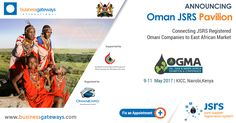 The Oman JSRS Pavilion at OGMA 2017 in Nairobi, Kenya, will introduce JSRS to the African Markets. Meet us to connect to Oman's Oil & Gas Procurement Action. JSRS Registered Omani Companies will be exhibiting in the Oman JSRS Pavilion. This international event will feature a two-day conference and an associated trade exhibition which provides a platform for professionals, companies, etc to learn and understand about the business potentials in the East African region. Fix an appointment now…
