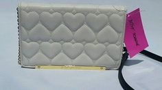 NWT! Betsey Johnson Wallet on a String Be Mine Bone Handbag Purse Crossbody $ 39.95+ Free Shipping!