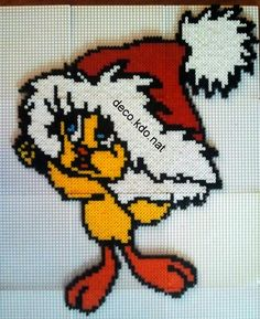 Christmas Tweety hama perler beads by Deco.Kdo.Nat