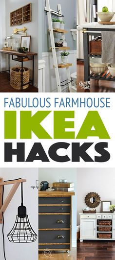 Amazing Ikea Hacks to Decorate on a Budget Amazing Ikea Hacks to Decorat. - Ikea DIY - The best IKEA hacks all in one place Ikea Hacks, Diy Hacks, Diy Home Decor Rustic, Farmhouse Decor, Farmhouse Interior, Farmhouse Ideas, Farmhouse Design, Country Decor, Farmhouse Mirrors