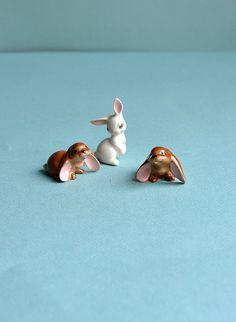 Teeny Tiny Bunny Rabbits, Set of 3. via MisterTrue